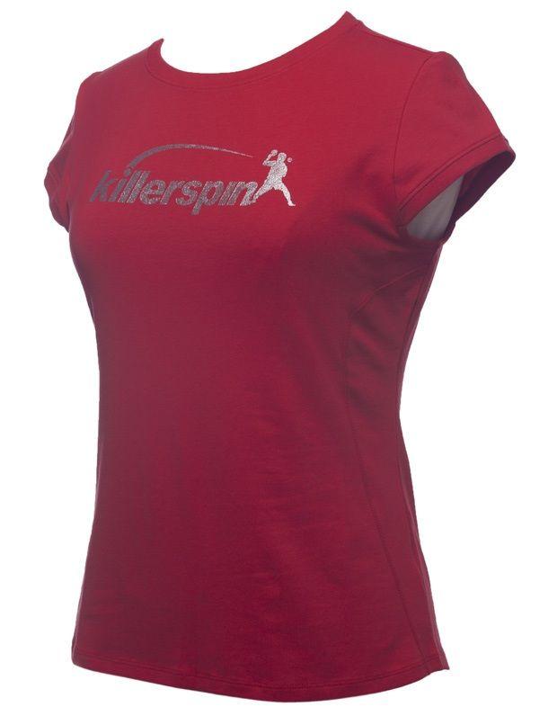 Killerspin Steely Girl Shirt: Red, Medium