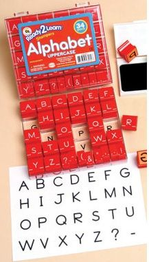 Ready 2 Learn Alphabet Stamps - Uppercase - Small - Set Of 34