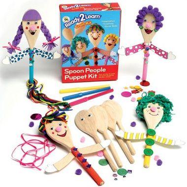 Ready 2 Learn Spoon People Puppet Kit