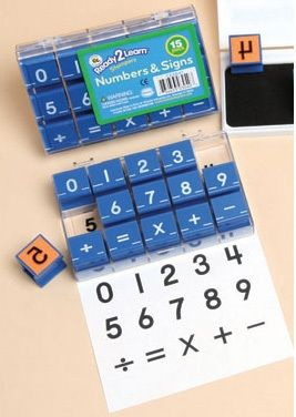 Ready 2 Learn Number And Sign Stamps - Small - Set Of 15