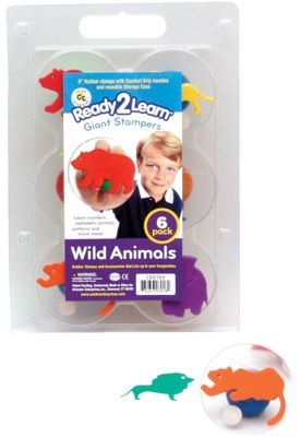 Ready 2 Learn Giant Stampers - Wild Animals - Set Of 6
