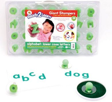 Ready 2 Learn Giant Stampers - Lowercase Letters - Set Of 28