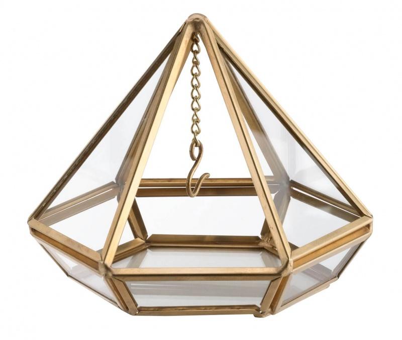 Gold Hanging Prism Ring Pillow Alternative