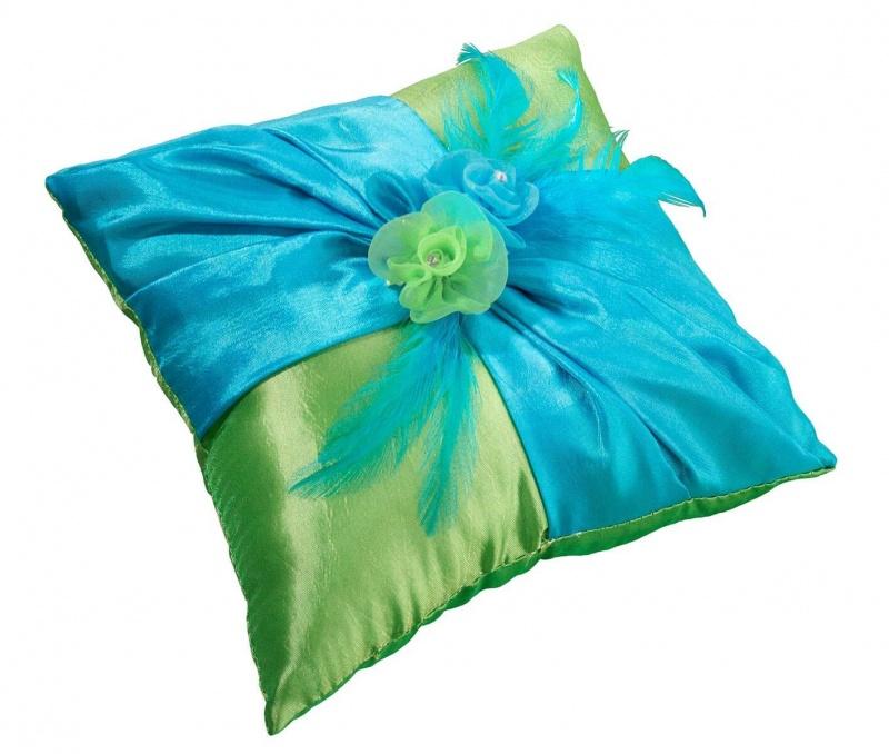 Blue & Green Ring Pillow