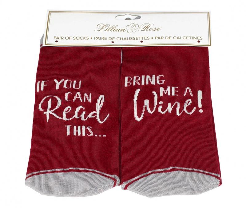 """""""Bring Me Wine"""" Sock"""