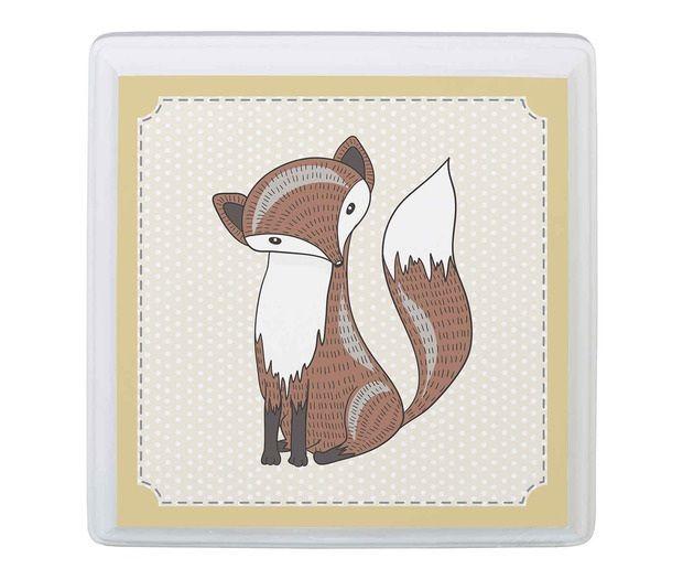 Tan Fox Baby Nursery Sign