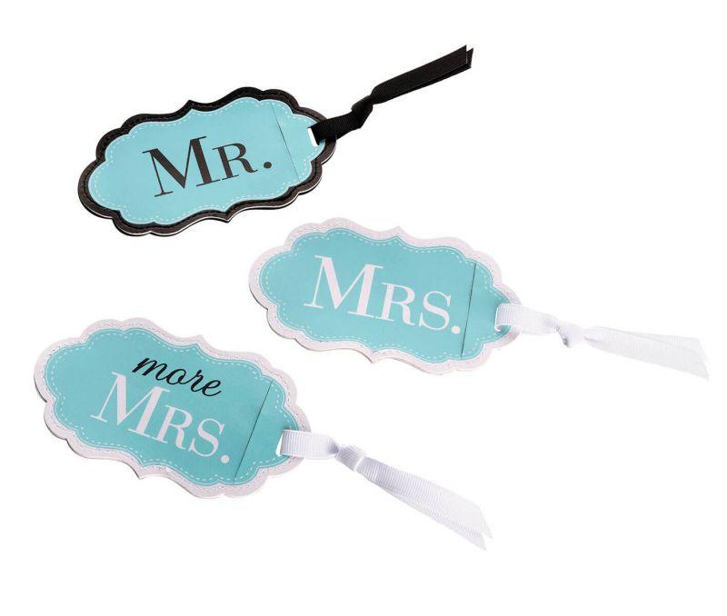 Mr., Mrs. & More Mrs. Aqua Luggage Tag