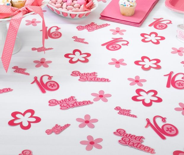 Sweet Sixteen Party Table Confetti