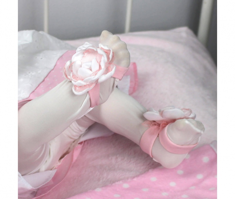 Light Pink Baby Headband & Barefoot Sandal