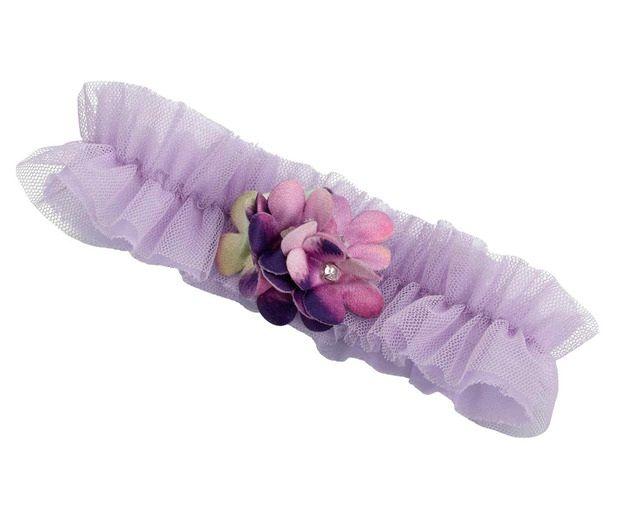 Lavender & Plum Flower Garter