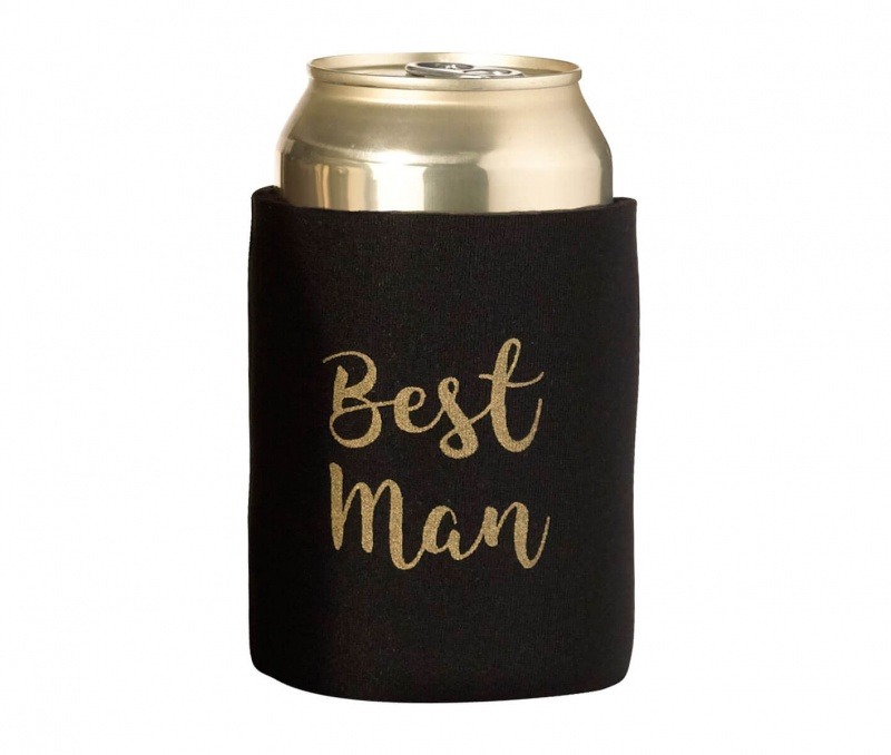 Black And Gold Best Man Cozy