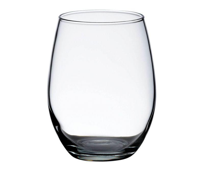 Single Stemless Wine Glass