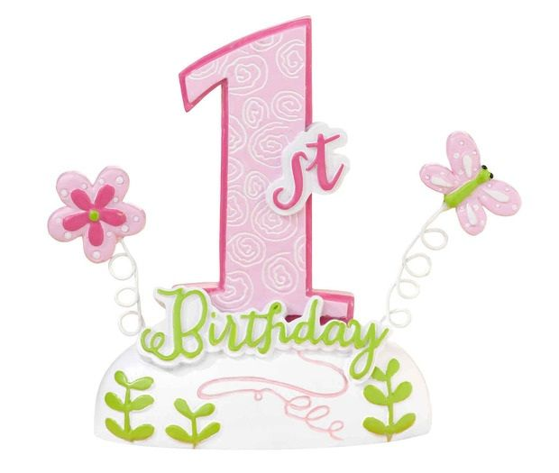 First Birthday Pink Cake Topper