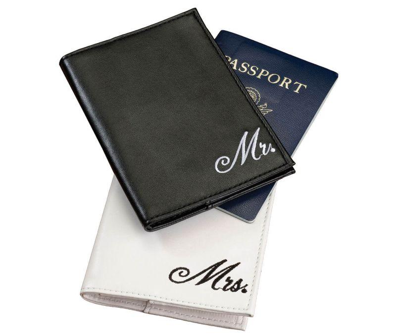 Black & White Mr. & Mrs. Passport Cover