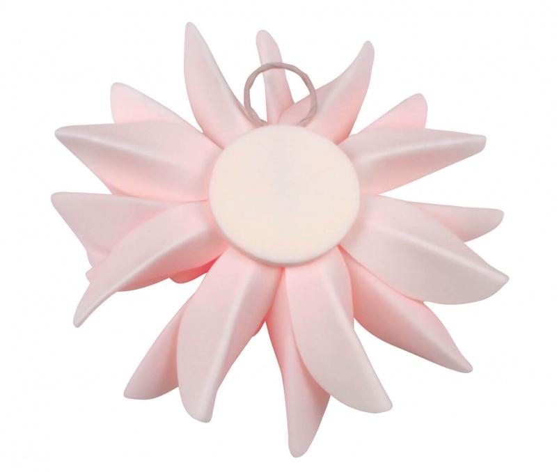 "Set Of 2 Pink 7.5"" Flower Decorations"