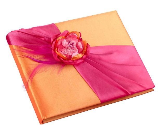 Hot Pink & Orange Guest Book