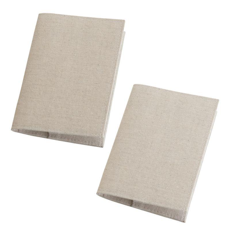 Set Of 2 Tan Passport Covers