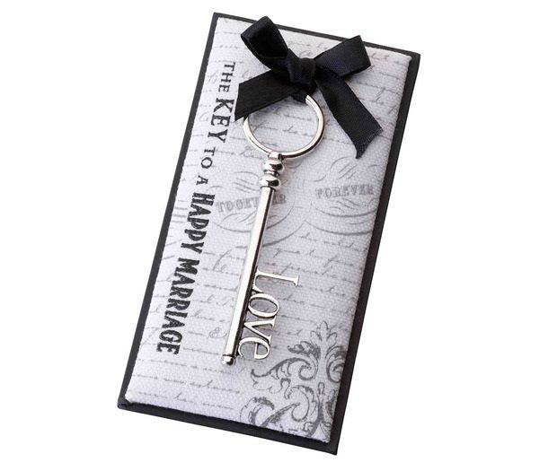 Silver Love Key Wedding Favor