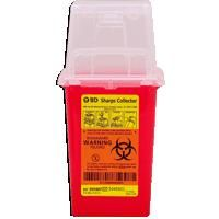 Bd Nestable Sharps Collector, Red, Dual Access, 1.5 Qt