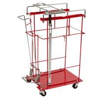 Kendall Foot Pedal Cart For Volume And Chemosafety Containers, 12 & 18 Gal Silding Lid, Large
