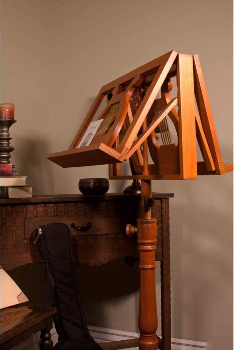 Ems Double Tray Regency Music Stand - Red Cedar