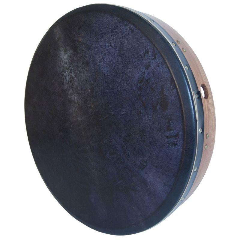 Roosebeck Tunable Bodhran Cross-Bar 18-By-3.5-Inch, Black Goat Skin - Red Cedar