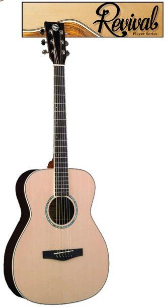 Revival Rg-25 Spruce Top, Black Walnut Thin Body Guitar