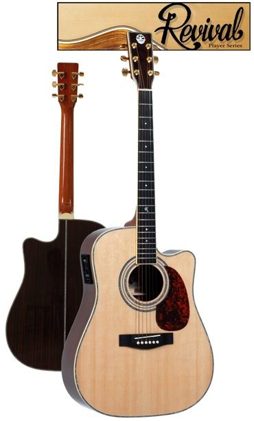 Revival Spruce, Black Walnut Dreadnought Cutaway Guitar