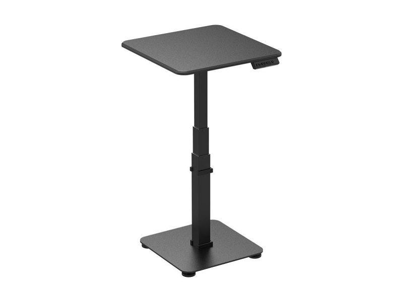 Workstream By Monoprice Single Motor Sit-stand Pedestal Laptop Desk With Top