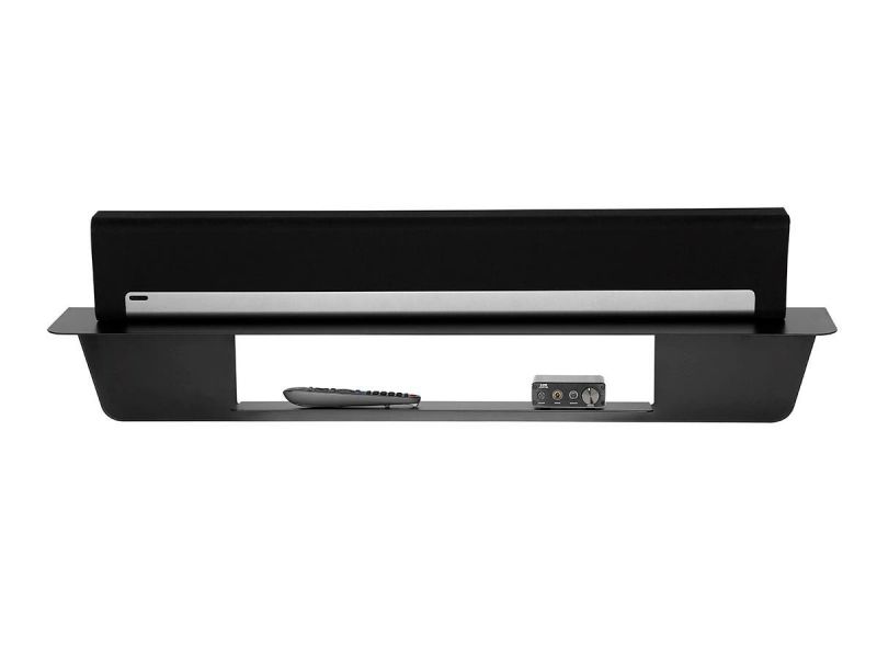 """Monoprice Universal Wall Mountable 40"""" Soundbar Shelf With Cable Management 22Lbs Weight Capacity"""