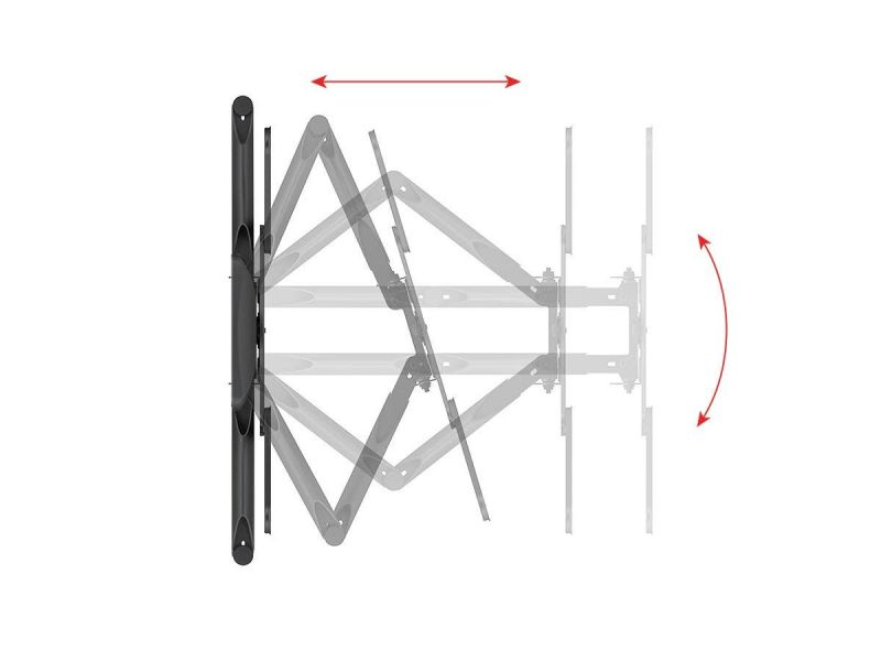 Monoprice Slimselect Series Low Profile Full-motion Articulating Tv Wall Mount For Led Tvs 19in To 55in, Max Weight 100 Lbs, Extension Range From 1.2in To 17.8in, Vesa Patterns Up To 400x400