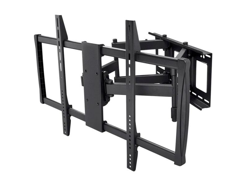 Monoprice Commercial Series Full-motion Tv Wall Mount Bracket For Led Tvs 60in To 100in, Max Weight 176lbs, Extends From 2.8in To 24.6in, Vesa Up To 900x600, Rotating, Concrete & Brick, No Logo