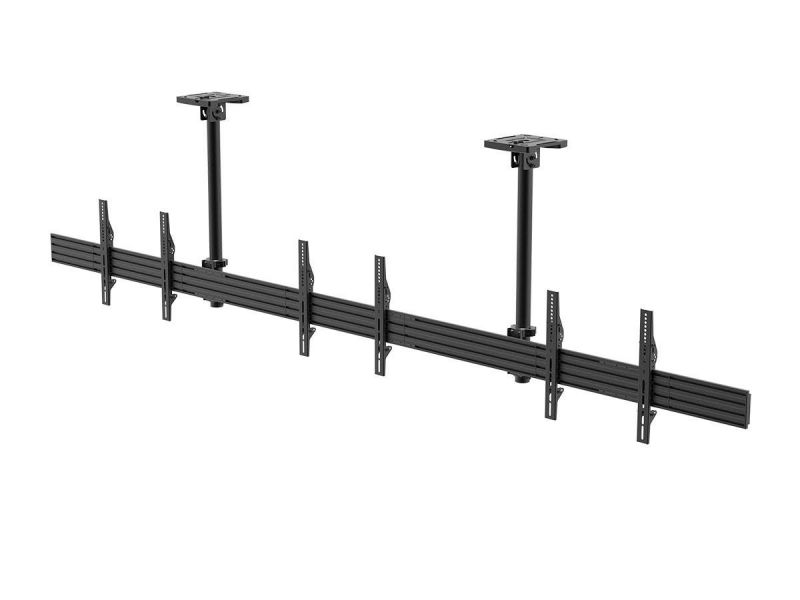 Monoprice Commercial Series 3x1 Panel Menu Board Ceiling Tv Mount For Displays Between 32in To 65in, Max Weight 66 Lbs. Ea., Vesa Patterns Up To 600x400