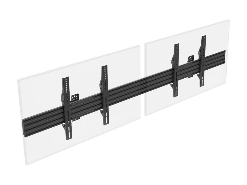 Monoprice Commercial Series 2x1 Display Menu Board Tv Wall Mount For Led Screens Between 32in To 65in, Max Weight 66 Lbs, Vesa Patterns Up To 600x400