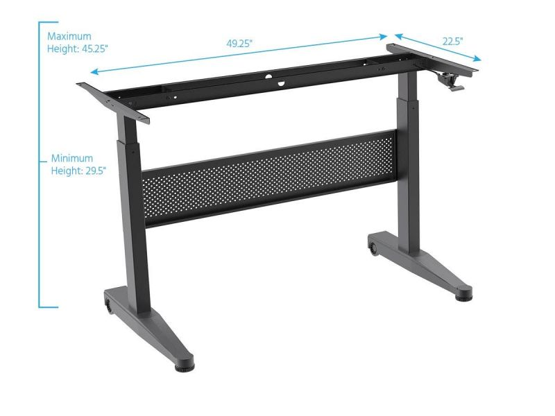 Workstream By Monoprice Height Adjustable Gas-Lift Sit-Stand Desk Frame, 5Ft
