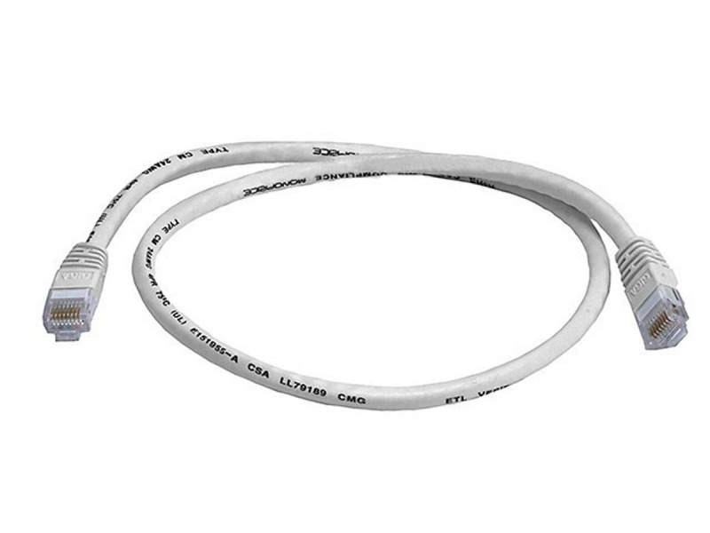 Monoprice Cat5e Ethernet Patch Cable - Snagless Rj45, Stranded, 350Mhz, Utp, Pure Bare Copper Wire, 24Awg, 2Ft, White