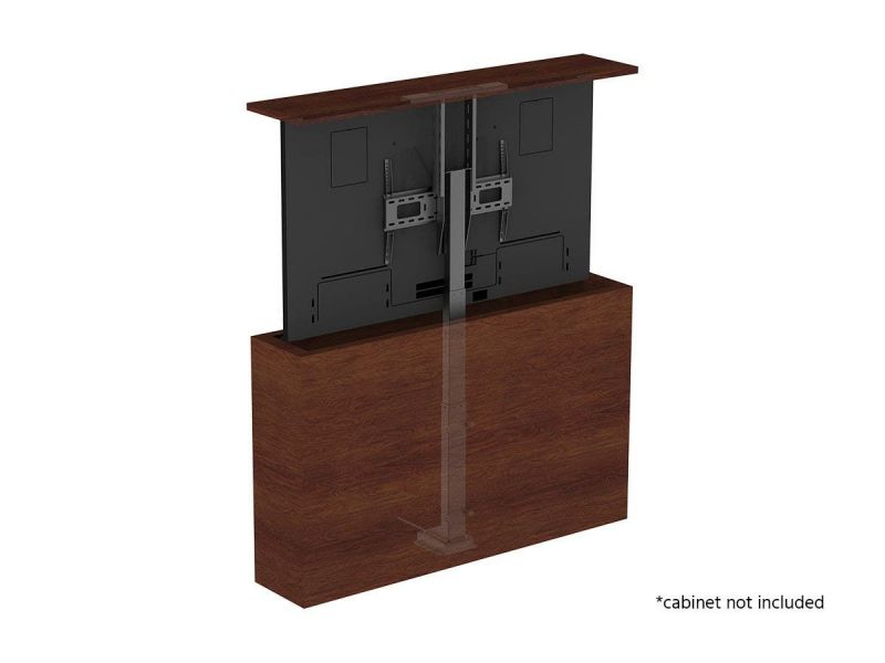 Monoprice Commercial Series Motorized Tv Lift Stand For Tvs Between 37In To 65In, Max Weight 110Lbs, Vesa Capability Up To 600X400