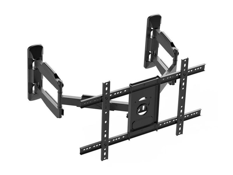 Monoprice Cornerstone Series Corner Friendly Full-motion Articulating Tv Wall Mount Bracket For Led Tvs 37in To 70in, Max Weight 99 Lbs., Vesa Patterns Up To 600x400, Rotating