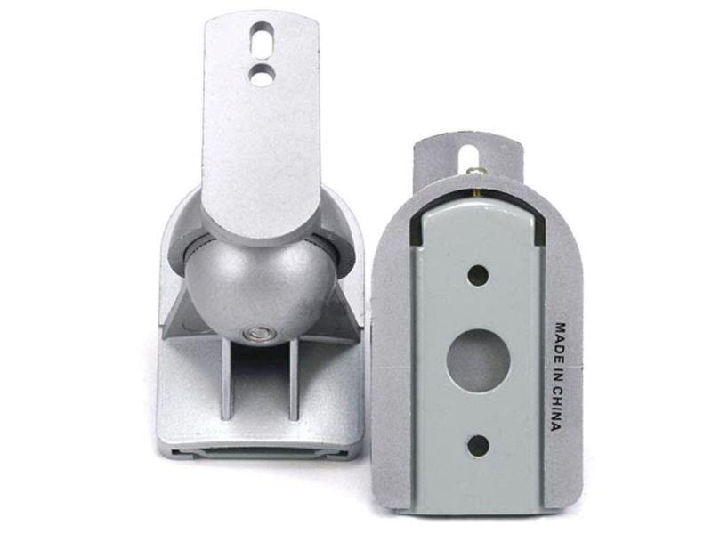 Monoprice Speaker Wall Mounting Bracket - Silver (max 7.5lbs), Set Of 2