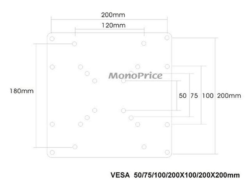 Monox50mm To 200x200mm Tv Wall Mount Bracket Universal Vesa Adapter Plate