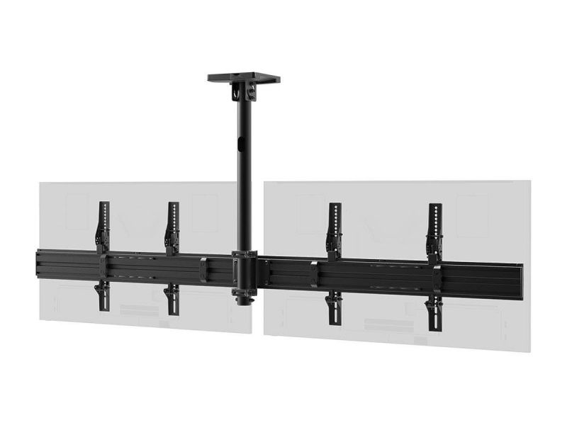 Monoprice Commercial Series 2x1 Panel Menu Board Ceiling Mount For Displays Between 32in And 65in, Max Weight 66 Lbs. Ea., Vesa Patterns Up To 600x400