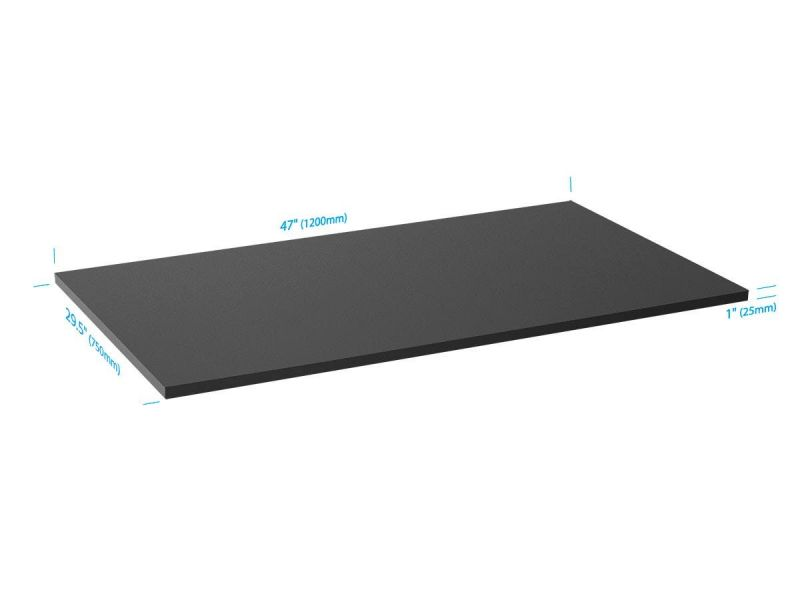 Workstream By Monoprice Table Top For Sit-stand Height Adjustable Desk, 4ft Black