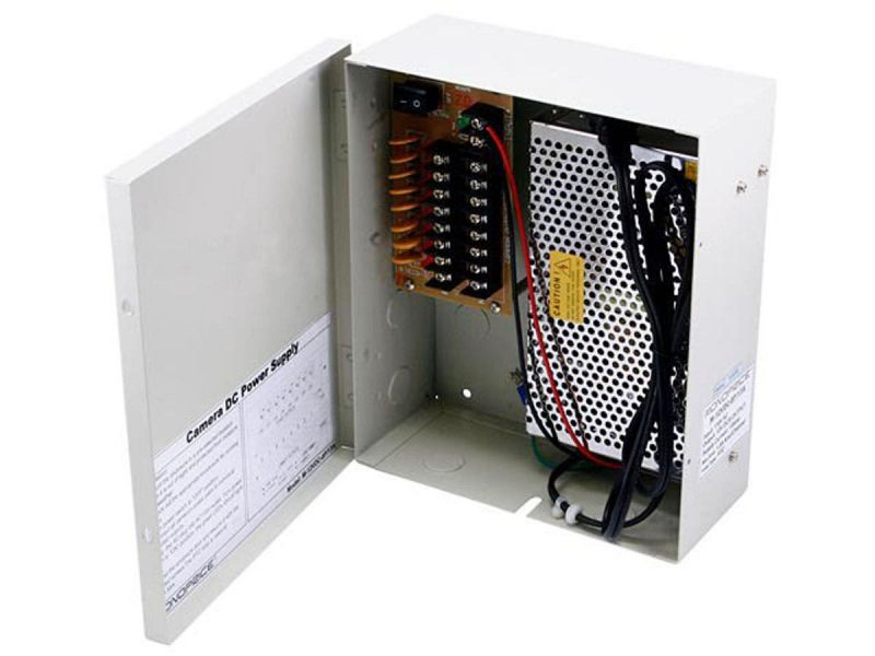 Mono Channel Cctv Camera Power Supply - 12Vdc - 13Amps