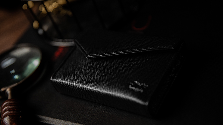 Luxury Leather Playing Card Carrier (black) By Tcc - Trick