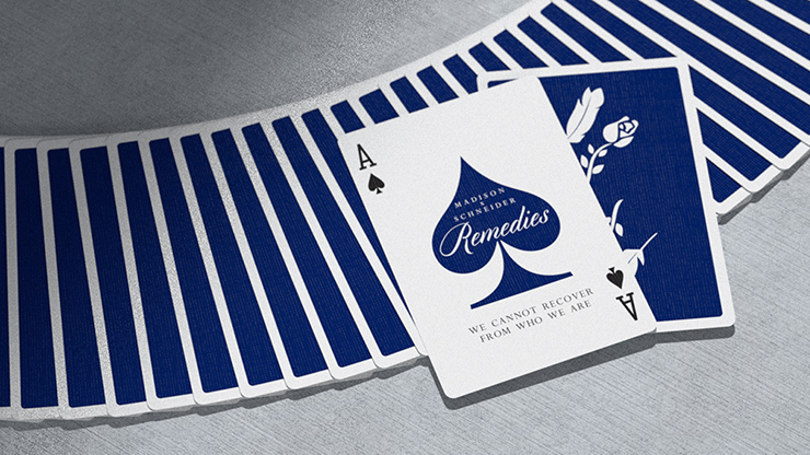 Royal Blue Remedies Playing Cards By Madison X Schneider