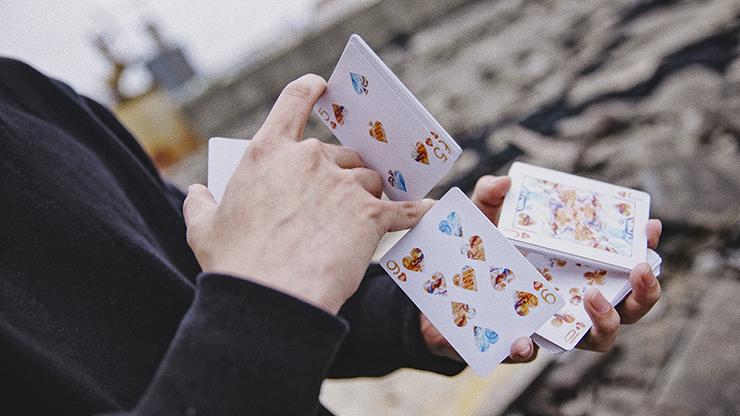 Fluid Art Orange (standard Edition) Playing Cards