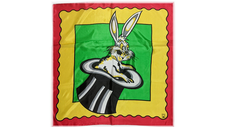 """Rice Picture Silk 27"""" (rabbit In Hat) By Silk King Studios - Trick"""