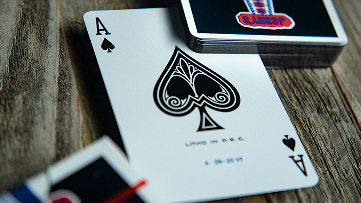 Gilded Vintage Feel Jerry's Nuggets (black) Playing Cards