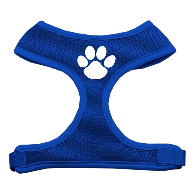 Paw Design Soft Mesh Pet Harness Blue Large