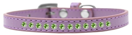 Lime Green Crystal Size 12 Lavender Puppy Collar
